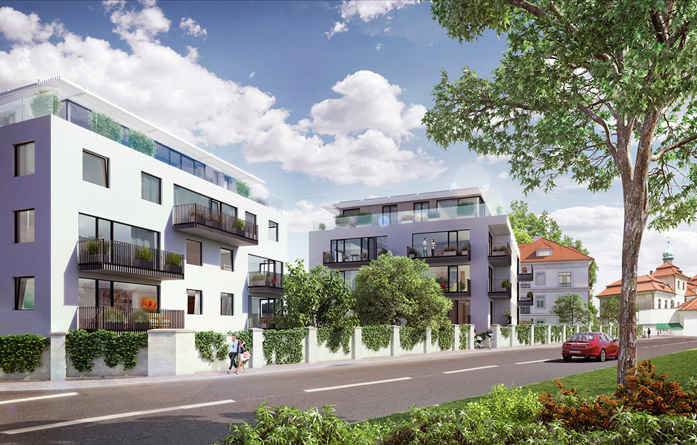 Více než polovina bytů developerského projektu poblíž Veleslavínského zámku zná své majitele